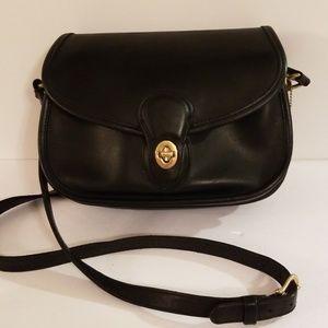 Coach Vintage Prairie Black Leather Handbag Purse